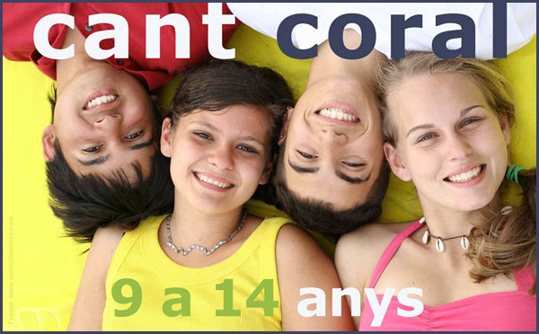 cant coral joves, 9 a 14 anys. insciviu-vos
