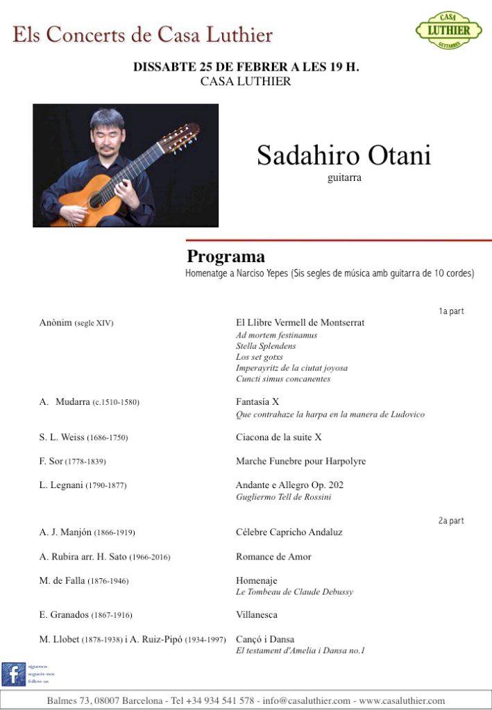 Els concerts de casa luthier sadahiro otani escola luthier de m sica - Casa luthier barcelona ...